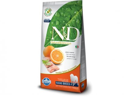 N&D Grain Free Adult Maxi Fish & Orange 12kg (expirace: 18.6.2021)