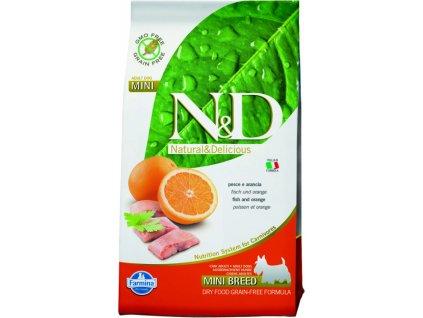 N&D Grain Free Dog Adult Mini Fish  &  Orange 7kg