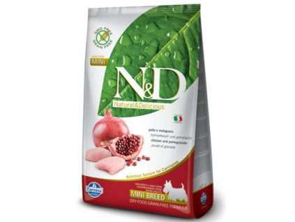 N&D Grain Free Dog Adult Mini Chicken & Pomegranate 7kg