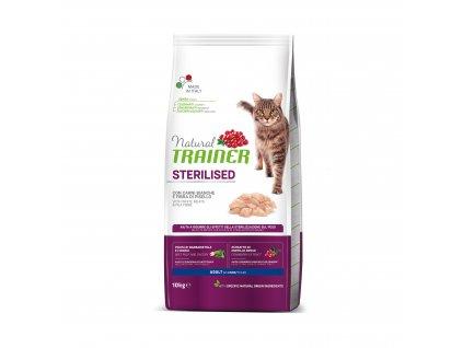 Trainer Natural Cat Sterilised drůbeží maso 10 kg