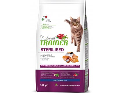 Trainer Natural Cat Sterilised losos 1,5kg
