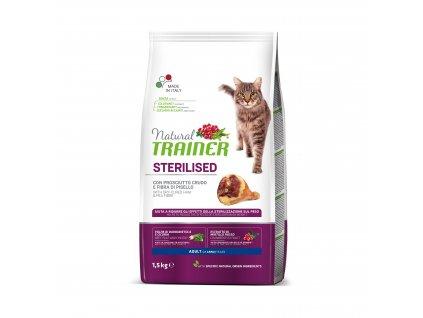 Trainer Natural Cat Sterilised sušená šunka 1,5kg