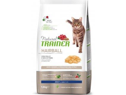 Trainer Natural Cat Hairball kuřecí 1,5kg