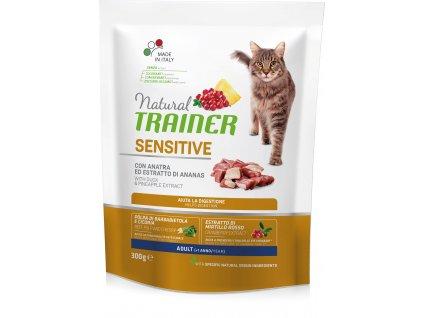 Trainer Natural Cat Sensitive kachna 300g