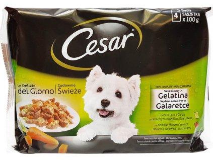 Cesar Selection kapsička v želé 4 x 100g