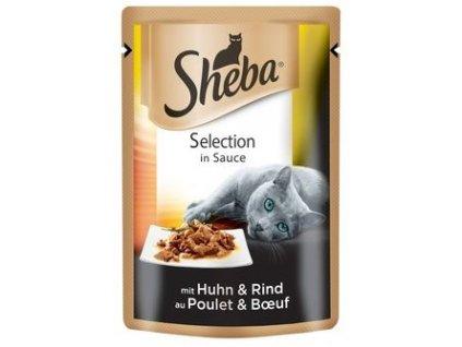 Sheba Selection kuře + hovězí ve šťávě 85g