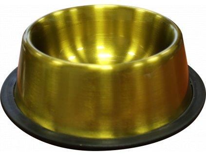 Huhubamboo miska nerezová zlatá lesklá 17cm