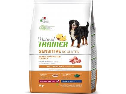 Trainer Natural Sensitive No gluten Adult M/M vepřové 3kg
