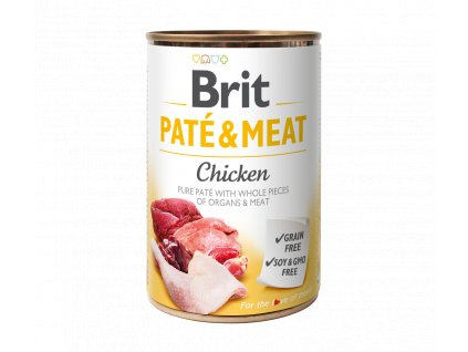 Konzerva Brit Pate & Meat Chicken 400g