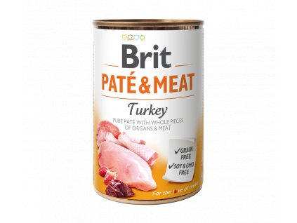 Konzerva Brit Pate & Meat Turkey 400g