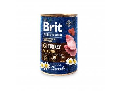 Konzerva Brit Premium by Nature Turkey with Liver 400g