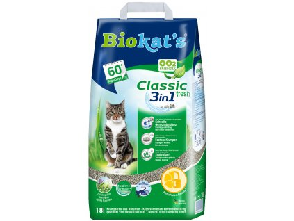 Podestýlka Biokats classic fresh 18l