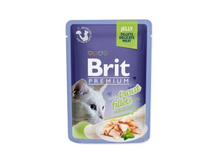 Kapsička Brit Premium Cat Delicate Fillets in Jelly with Trout 85g