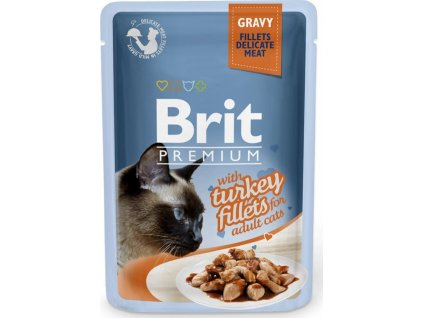 Kapsička Brit Premium Cat Delicate Fillets in Gravy with Turkey 85g