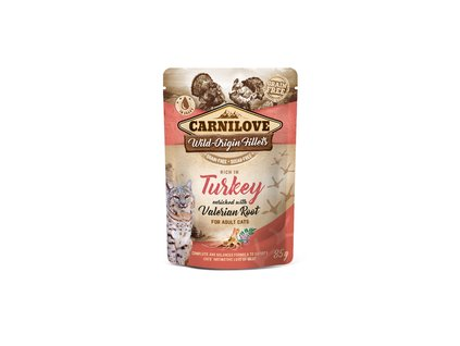 Kapsička Carnilove Cat Pouch Turkey with Valerian 85g