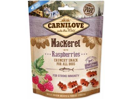 Kapsička Carnilove Dog Crunchy Snack Mackerel, Raspberry and fresh meat 200g