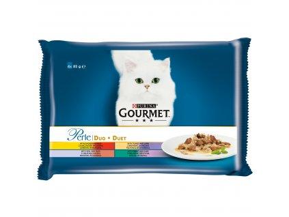 Kapsičky Gourmet Perle Duo Multipack Masové Duo 4x85g
