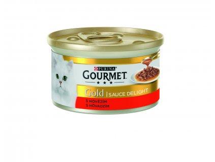 Konzerva Gourmet Gold Sauce Delights hovězí v Omáčce 85g