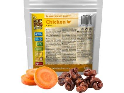 Huhubamboo  kuřecí uzel s mrkví 200g