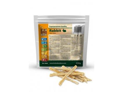 Huhubamboo  Excellent proužky králík kůže 230g