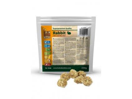 Huhubamboo  Excellent kuličky králík kůže+rýže 230g (expirace: 1.12.2021)