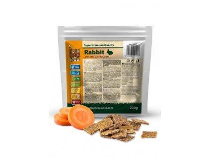 Huhubamboo  Excellent kostky králík kůže+mrkev 230g