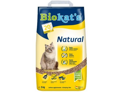 Podestýlka BIOKATS Natural 5kg