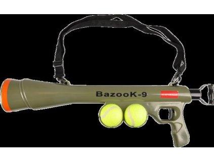 Hračka Flamingo bazuka + tenisový míček 60x18,5x9cm