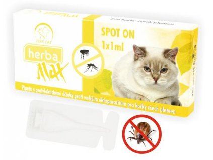 Herba Line Spot-on antiparazitní citrus kočka 1x1ml
