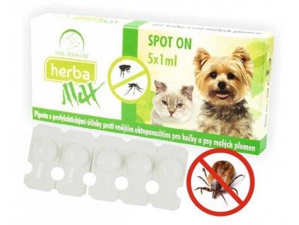 Herba Max Spot-on pro kočky a psy malých plemen 5x1ml