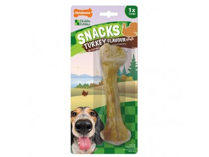 Nylabone Healthy Edibles Snacks krůta L 1ks blistr 140g