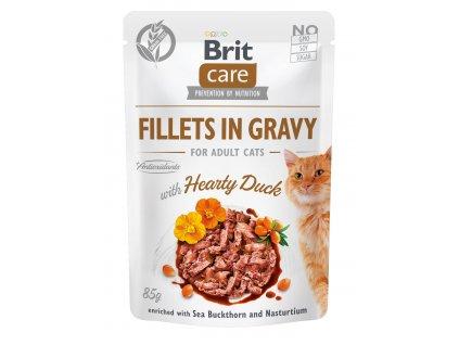 Brit Care Cat Fillets in Gravy Duck 85g