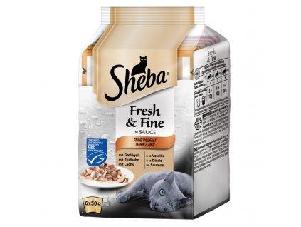 Kapsičky SHEBA Fresh&Fine mix 6pack 300g