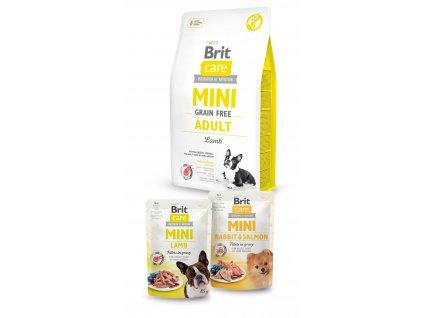 Brit Care Mini Grain Free Adult Lamb 2kg+2x pouch 85g ZDARMA