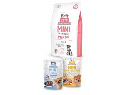Brit Care Mini Grain Free Puppy Lamb 2kg+2x pouch 85g ZDARMA