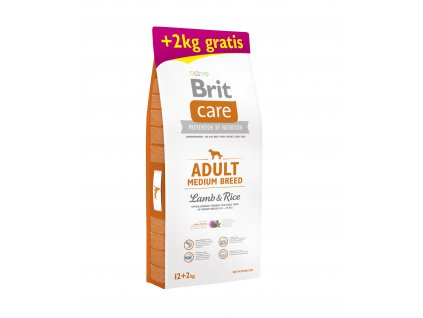 Brit Care Adult MB Lamb & Rice 12+2kg ZDARMA