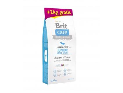 Brit Care Grain-free Junior LB Salmon & Potato 12+2kg ZDARMA