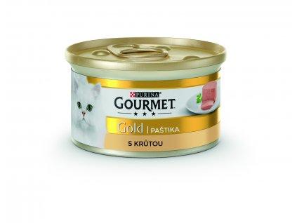 Gourmet Gold jemná paštika s krůtou 85g