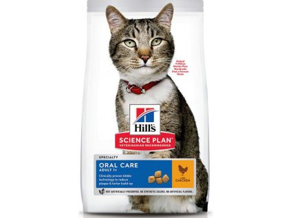 Hills Feline SP Adult Oral Care kuře 7kg (expirace: 30.01. 2020)