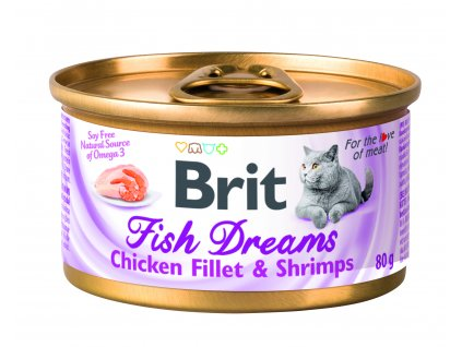 Konzerva Brit Fish Dreams Chicken fillet & Shrimps 80g (expirace: 5.4.2021)