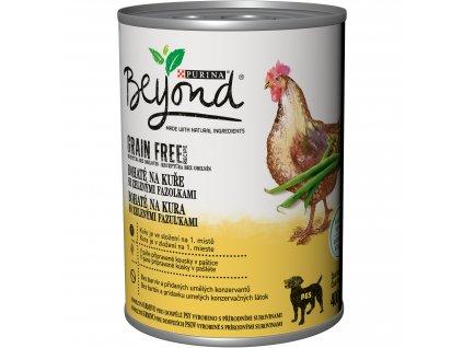 Konzerva Beyond Grain Free Dog kuře a zelené fazolky 400g