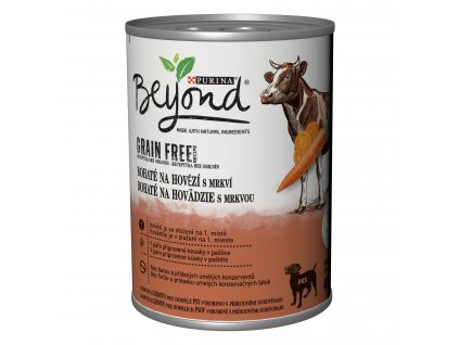 Konzerva Beyond Grain Free Dog hovězí a mrkev 400g