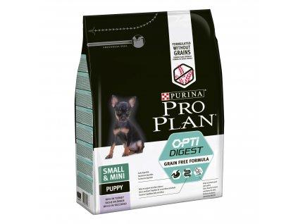 Purina Pro Plan Small&Mini Puppy Optidigest Grain Free krůta 2,5kg