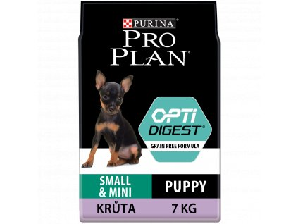 Purina Pro Plan Small&Mini Puppy Optidigest Grain Free krůta 7kg