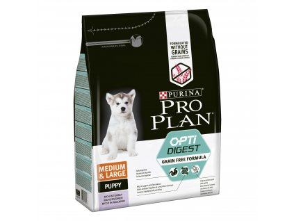 Purina Pro Plan Medium&Large Puppy Optidigest Grain Free krůta 2,5kg
