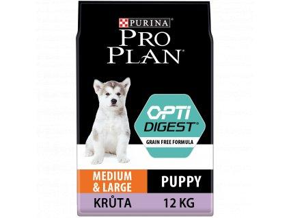 Purina Pro Plan Medium&Large Puppa Optidigest Grain Free krůta 12kg