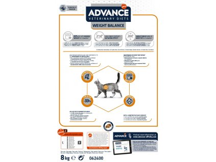 ADVANCE Veterinary Diets Cat Weight Balance MED/MAXI 8kg
