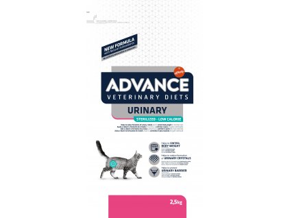 ADVANCE-VETERINARY DIETS CAT Sterilized Urinary Low cal. 2,5KG