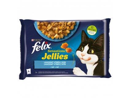 Kapsička FELIX Sensations multipack losos+krab a treska+rajče v želé 4x85g