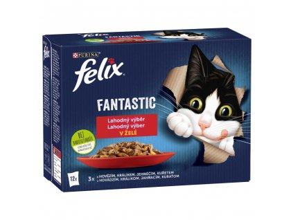 Kapsička FELIX Fantastic multipack masový výběr 12x85g